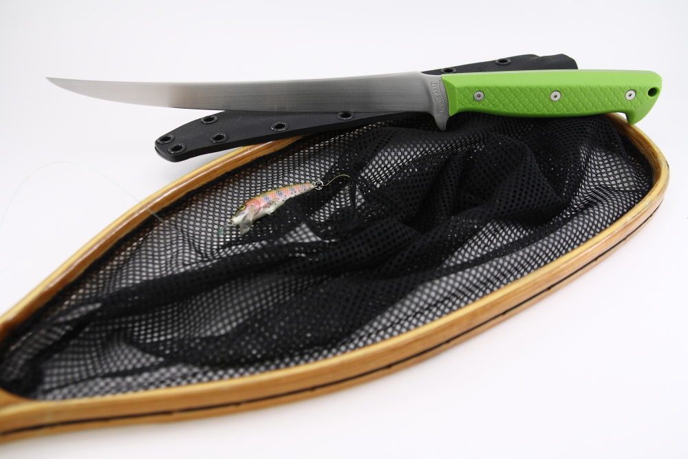 Kermode_fillet_knife_satin_finish_neon_green_scales.jpg