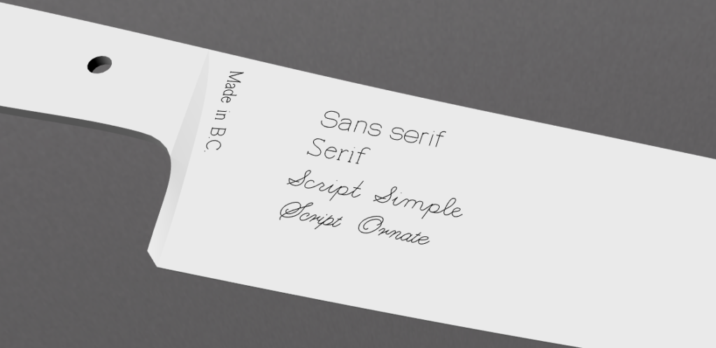 north_arm_knife_custom_engraving_fonts
